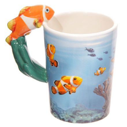 Clown Fish Handle Ceramic Mug with Decal
